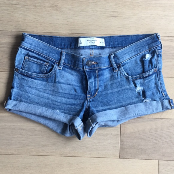 Abercrombie & Fitch Pants - Abercrombie & Fitch stretch ripped denim shorts
